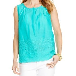 Vineyard Vines Fish Eyelet Top Medium